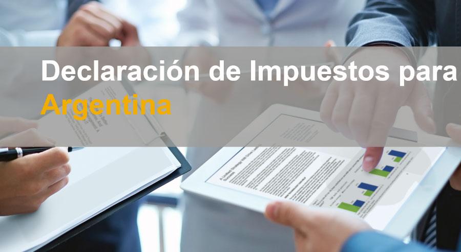 declaracion de impuestos con SAP